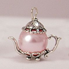 Victorian Teapot Charms | ... teapot charm 5525 medium pink pearl sterling silver teapot charm price