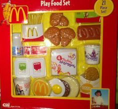 I remember this Little Girl Toys, Baby Girl Toys, Toys For Girls, Wooden Play Food, Accessoires Barbie, Play Food Set, Fisher Price Toys, Miniature Crafts, Toy Kitchen