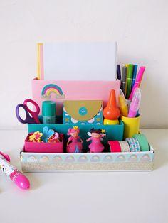 Fabriquer un organisateur de bureau en carton