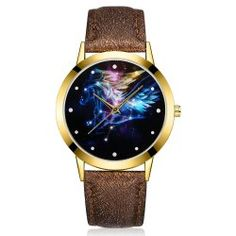 GAIETY G379 Women Starry Sky Face Leather Watch - Coffee  Pin buckle Fashion