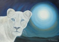 White Lioness – Marah by Ria Rademeyer Canvas Prints, Framed Prints, Art Prints, Holding Space, Deep Love, Spiritual Gifts, Divine Feminine, Beautiful Artwork, The Past