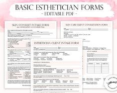 This Esthetician Business Planner, Editable Esthetician Client Intake Form, Facials Esthetician Forms, Waiver Form and Consultation Form is just one of the custom, handmade pieces you'll find in our calendars & planners shops. Facial Esthetician, Esthetician Room, Esthetician Supplies, Microblading Aftercare, Facial Room, Eyelash Technician, Facial Fillers, Editable, Business Planner
