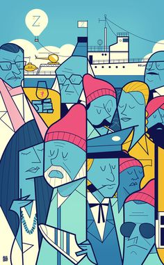 The Life Acquatic with Steve Zissou by Ale Giorgini