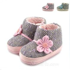Concise Comfortable Baby Shoes With Lovely Flower