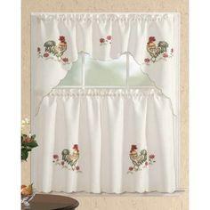 Floral Kitchen Curtains | Floral Curtains | Flower Print Tiers ...