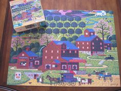 Charles Wysocki Puzzle 1000 Pieces Plum Valley Buffalo Games CLEARANCE SALE #Hasbro