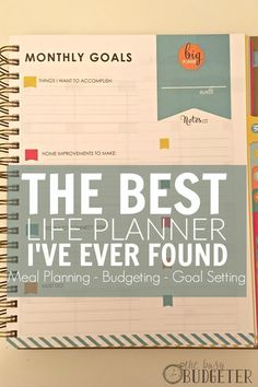 The Living Well Planner. Kinda seems like the new version of the Erin Condren planner now that it has goals sections and all that