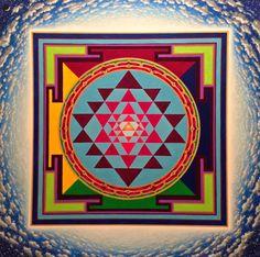"""""""Sri Yantra"""" Acrilic & Oil on Canvas"""