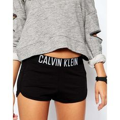 Calvin Klein Intense Power Lounge Shorts ❤ liked on Polyvore featuring shorts, calvin klein shorts and calvin klein