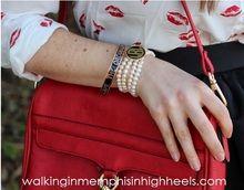 Pearl Monogram Bracelet Styled By walkinginmemphisinhighheels.com
