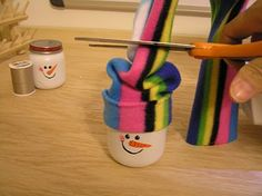 I have updated how I hang my ornament. For the newer post go HERE Step 1 - paint your snowman. If you look really close you will see tha. Christmas Jars, Kids Christmas, Christmas Crafts, Christmas 2017, Xmas, Baby Jars, Baby Food Jars, Holiday Crafts For Kids, Teen Crafts