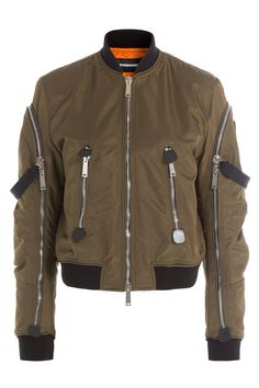 DSQUARED2 Bomber Jacket With Zippers. #dsquared2 #cloth #