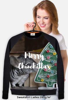 Christmas gift idea for chinchillas fans. Visit store to buy fullprint sweatshirt for ladies with chinchillas. | Pomysł na prezent dla miłośnika szynszyli. Odwiedź nasz sklep i kup damską bluzę fullprint z szynszylą już teraz. (www.uszynszyla.cupsell.pl) #christmas #szynszyla #prezenty #uszynszyla #mrstefano #swearshirt #chinchillas #szynszyle