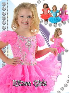 Jademomo Little Girls' Pink Short Crystal Toddlers Pageant Dresses For Weddings - children dance Toddler Pageant Dresses, Toddler Flower Girl Dresses, Cheap Homecoming Dresses, Cute Girl Dresses, Flower Dresses, Toddler Dress, Baby Dress, Flower Girls, Pink Party Dresses