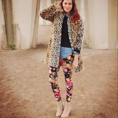 Annebeth makes me want floral leggings. I never thought I would say that!