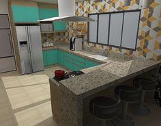 """Check out new work on my @Behance portfolio: """"Cozinha verde com madeirado. (feito no SketchUp )."""" http://be.net/gallery/52007861/Cozinha-verde-com-madeirado-(feito-no-SketchUp-)"""