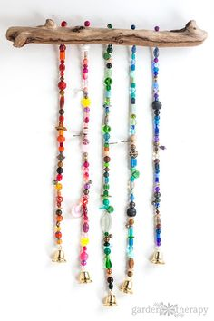 How to Make a Beaded Wind Chime with Bells Step (9)
