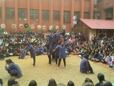 """street play by kamla nehru college in """"reverie 14"""""""