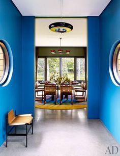 A hallway in Muriel Brandolini's family retreat in the Hamptons