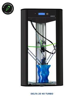 Fastest FFF 3D Printer In The World - Wasp Delta Turbo - 1000mm/sec http://3dprint.com/47546/wasp-delta-20-40-turbo/