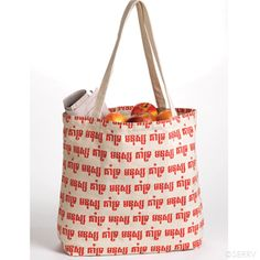 """The script adorning this canvas bag from serrv.org says """"People Support People"""" in Khmer!  Support Cambodian artists and learn who is making our products in a fairly traded environment!"""