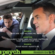 Psych_USA: Lassie's heart hearts Shawn. ... #psychisback