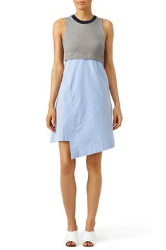 Grey Popover Dress by Carven for $55 | Rent the Runway