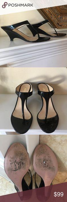 Prada Black Patent Leather Sandal Gently Used 35 1/2 I am a size 6 1/2 Prada Shoes Sandals