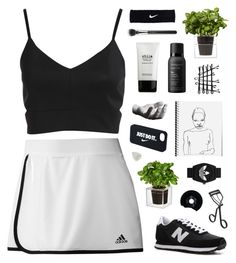No Control by discxnnect-ed on Polyvore featuring adidas, New Balance, adidas Originals, NIKE, MAC Cosmetics, Surratt, Stila, Living Proof, Boskke and Areaware
