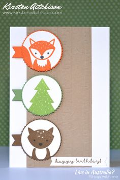 Stampin Up Foxy Friends Stampin Up Foxy Friends Cards, Foxy Friends Punch, Cards For Friends, Stampin Up Cards, Baby Thank You Cards, Baby Cards, Kids Cards, Stamping Up, Rubber Stamping