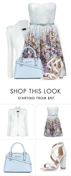 """""""Strapless Dress"""" by daiscat ❤ liked on Polyvore featuring Alexander McQueen, Forever New, Armani Jeans and Miss KG"""