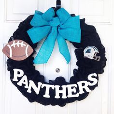 A personal favorite from my Etsy shop https://www.etsy.com/listing/254181532/north-carolina-panthers-nfl-burlap