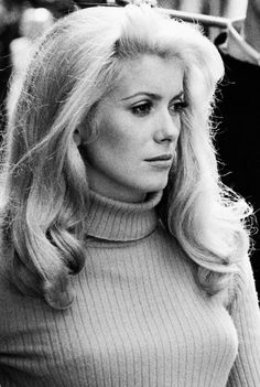 """Catherine Deneuve on the set of La Chamade (1968) """