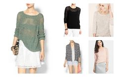 Lightweight summer sweaters keep you warm and chic