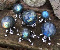 Gorgeous and flashy labradorite spheres have hit my shop!  www.etsy.com/shop/DFInspirations