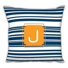 Dabney Lee Block Island Single Initial Cotton Throw Pillow Letter: S