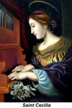 St Cecilia, patron of musicians