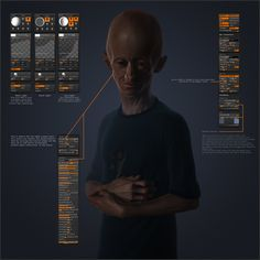 Zbrush: Geat! Materials/Lights/Rendering Settings preset. http://www.zbrushcentral.com/showthread.php?103459-Sketchbook-Julian-K-2011&p=781262#post781262 Sketchbook Julian
