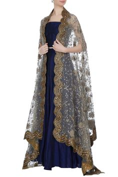 Buy Blue raw silk lehenga with blouse by Pooja Rajpal Jaggi at Aza Fashions Indian Gowns Dresses, Pakistani Dresses, Evening Dresses, Pretty Outfits, Pretty Dresses, Beautiful Dresses, Stylish Dresses, Fashion Dresses, Raw Silk Lehenga