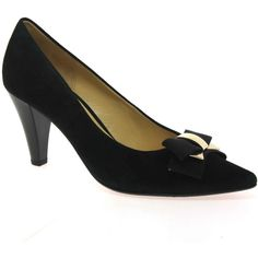 Shop online for Gabor Pavlova women s suede court shoes. Features pretty  bows with gold trim. Free UK delivery on all orders over 10cf2144e4