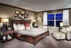 Modern Guest Bedroom with Uttermost Kadoka Metal Candelabra 64.5W x 36.5H, Wall sconce, Carpet