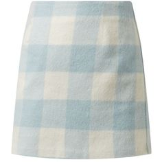 Pale Blue Brushed Gingham Check Mini Skirt (110 ARS) ❤ liked on Polyvore featuring skirts, mini skirts, bottoms, blue, clothing - skirts, blue skirt, patterned mini skirt, print skirt, print mini skirt and short mini skirts