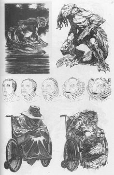 "Concept art for unmade ""The Shadow over Innsmouth"" movie by Bernie Wrightson Horror Comics, Horror Art, Comic Kunst, Comic Art, Fantasy Kunst, Fantasy Art, The Shadow Over Innsmouth, Character Art, Character Design"
