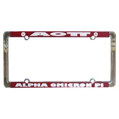 Alpha Omicron Pi License Plate for Car #AlphaOmicronPi #AOPi #AOII