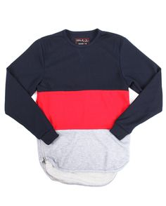 Buy FRENCH TERRY COLOR BLOCK PULLOVER W/ ZIPPERS (8-20) Boys Tops from Arcade Styles. Find Arcade Styles fashions & more at DrJays.com