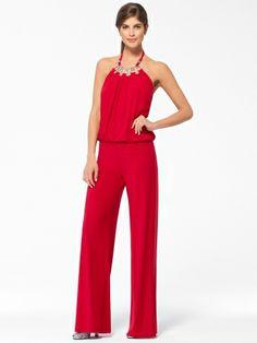 Embroidered Lace Wrap Jumpsuit | Diva's Women Jumpsuits ...