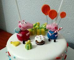 Tarta Peppa Pig 2c | De Perla's | Tartas fondant personalizadas en Málaga