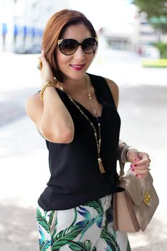 7e1f44db78b7ef Blame it on Mei. Miami Fashion blogger. Miu Miu handbag. Zara palm print