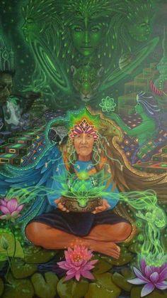 New Mother Nature Illustration Lights Ideas Psychedelic Art, Fantasy Kunst, Fantasy Art, Mundo Hippie, Psy Art, Spirited Art, Nature Illustration, Visionary Art, Sacred Art