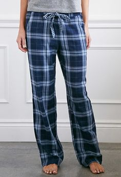 $15.90 Tartan Plaid Cotton PJ Pants | Forever 21 - 2000141349